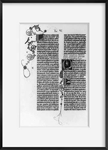 INFINITE PHOTOGRAPHS Foto: Gutenberg Bibel, 1455, Gospel, Beginn der Predigte, Berge: Luke, Text