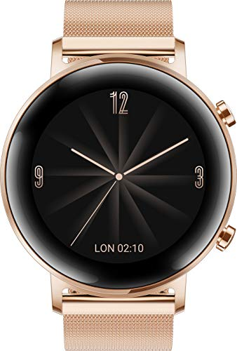 HUAWEI Watch GT 2 Elegant (42 mm), [Exklusiv +5EUR Amazon Gutschein], Refined Gold