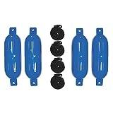 Extreme Max Blue Standard 3006.7495 BoatTector Inflatable Fender Value 4-Pack-6.5