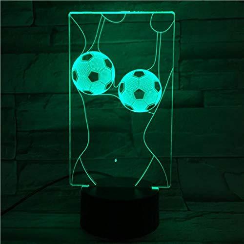 Lampada da tavolo a forma di lampada da comodino 3D, con luce emozionale, per Natale, Halloween, base in addominali, alimentata tramite USB, a risparmio energetico, adatta per ufficio, soggiorno, bar, feste