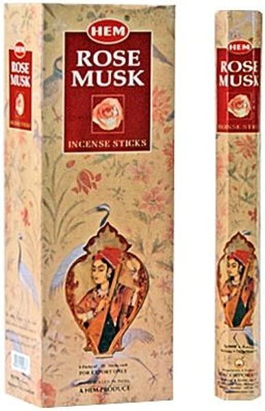 Rose Musk Box Of Six 20 Stick Tubes HEM Incense
