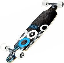 Atom 36-Inch Drop-Through Longboard, Black/White/Blue