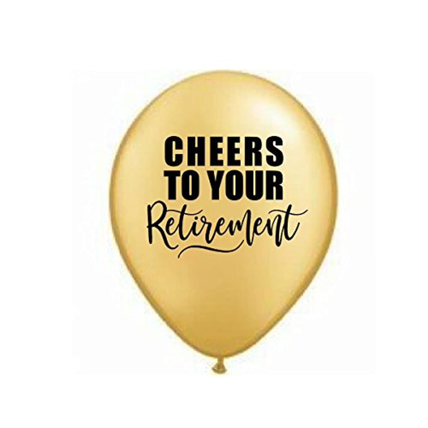 Cheers to Your Retirement, Gold Retirement Balloons, Retirement Party Balloons, Retirement Decor, Set of 3, Retirement Party Decorations, Gold Balloons