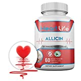HeartLife - Health - Wellness - 100% Natural Allicin Supplement - High Blood Pressure, Cholesterol, and Immune - 60 Vegetarian Capsules