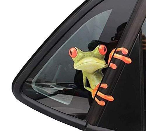Gwill 3D Cute Peep Frosch lustige Auto Aufkleber LKW Fenster Vinyl Aufkleber Grafiken Auto 2St