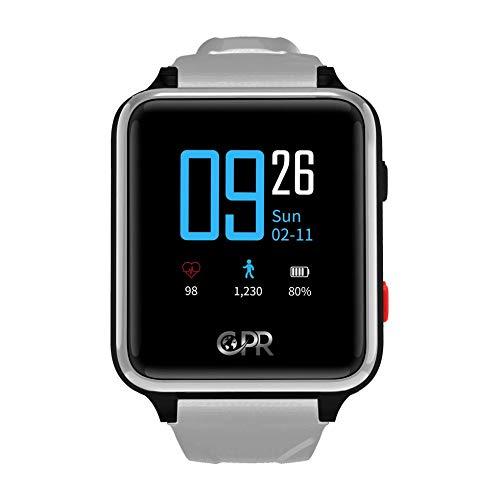 Reloj Inteligente CPR Guardian II para Padres y Seres Queridos, la próxima generación de protección en Caso de Emergencia. Mantener al Usuario Activo, Independiente y Seguro en Todo Momento (Gris)
