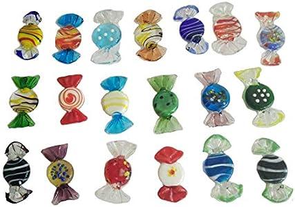 TEQIN - 20 caramelos de cristal de Murano, ideales como regalo de Navidad