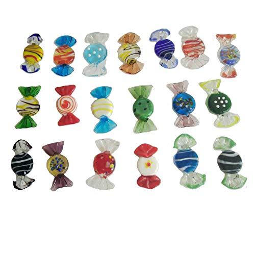 Teqin, 20 caramelle in vetro di Murano, per matrimoni, feste di Natale, decorazione principale, regalo casuale