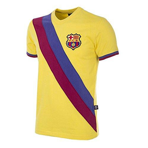 Copa Camiseta de fútbol Retro del FC Barcelona Away 1978-79 para Hombre, diseño Retro de fútbol, Hombre, 727, Amarillo, L