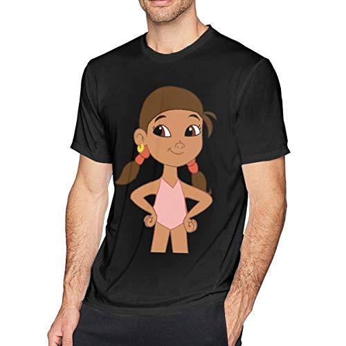 Jake und die Nimmerland-Piraten Izzy Neuheit T-Shirt Männer Soft O-Neck T-Shirts T-Shirts,5XL