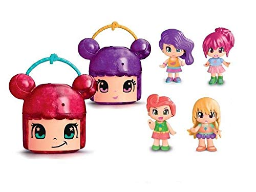 Pinypon - Lil Head Toy 4 Purple Container (Famosa 700015563)