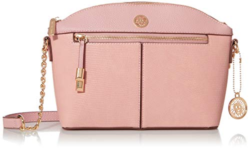 Anne Klein womens Anne Klein Classic Curve Crossbody Bag, Pink, 9.25 L x 3.25 D 7.5 H US