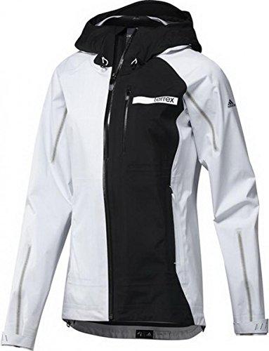 adidas Damen Jacke Terrex GTX Active Shell 3, Weiss/Schwarz, 38, S09430