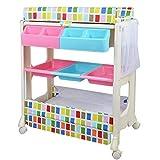 LJYY Cambiador para baño, guardería, estación de baño para muñecas con Estante de Almacenamiento, bañera, Almohadilla Impermeable, Soporte 50 kg (Color: Style-2)
