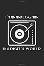 I'm an Analog Man In a Digital World: Vinyl DJ Dot Grid Notebook 6x9 Inches - 120 dotted pages for notes, drawings, formulas | Organizer writing book planner diary