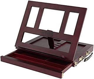 Soho Urban Artist Adjustable Tabletop Easel & Book Stand - Lightweight Art Desk, Table Easel with Storage Drawer, Sturdy and Portable, Perfect for The Home, Office or Travel - Mahogany Finish