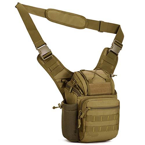 BAIGIO Taktisch Umhängetasche Herren Militär Kamera Schultertasche Wasserdicht Messenger Bag für Arbeit Reise Outdoor Sport (Kahki)