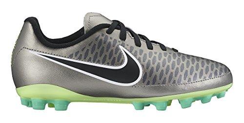 Nike Jungen Mädchen Jr Magista Onda AG Fitnessschuhe, Silber schwarz Grün weiß MTLC Zinn schwarz Ghst Grn weiß, 33 EU