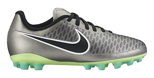 Nike Mädchen Jr Magista Onda AG Fitnessschuhe, Silber schwarz Grün weiß MTLC Zinn schwarz Ghst Grn weiß, 38 EU