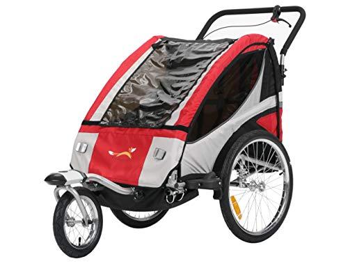 Fiximaster Multifunktion 2 in 1 Fahrradanhänger/Jogger Babywagen Jogger Handwagen Rot BT504S NEU