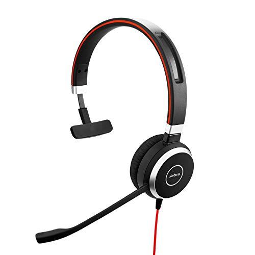 Jabra Evolve 40 Bluetooth mono headset- optimised for Microsoft Lync, Black