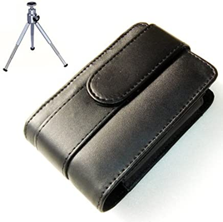 BDX0301G6 New premium quality leather black camera case for Fujifilm finepix A170 + camera tripod