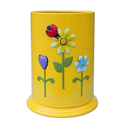 Cubos de Basura Toy Habitaciones Reciclaje Caja Doble del Hogar Papelera Kinder Planta De Almacenamiento Cubo De Niños Cubo Impermeable (Color : C, Size : 23 * 31cm)