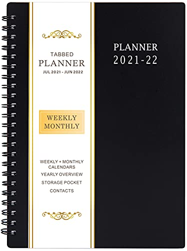 """2021-2022 Planner - Jul 2021- Jun 2022, Academic Planner 2021-2022 with Weekly & Monthly Spreads, 6.25"""" × 8.3"""", Strong Twin-Wire Binding, Round Corner, Improving Your Time Management Skill"""