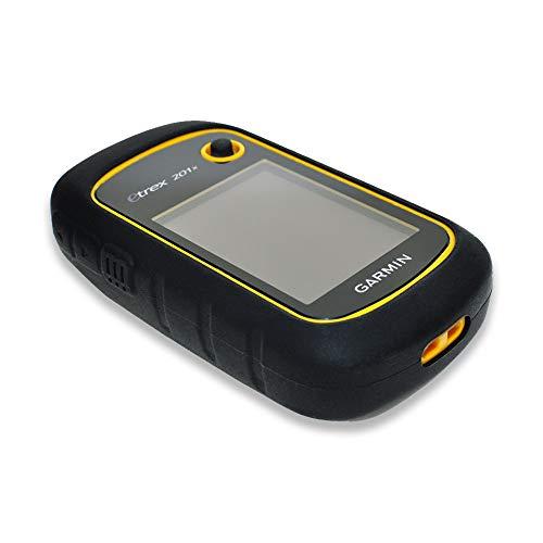 subtel® Tapa Trasera Compatible con Garmin eTrex 10 eTrex 20 eTrex 20x eTrex 30 eTrex 30x Silicone Funda Protectora Case Cover Etui Sleeve Negro