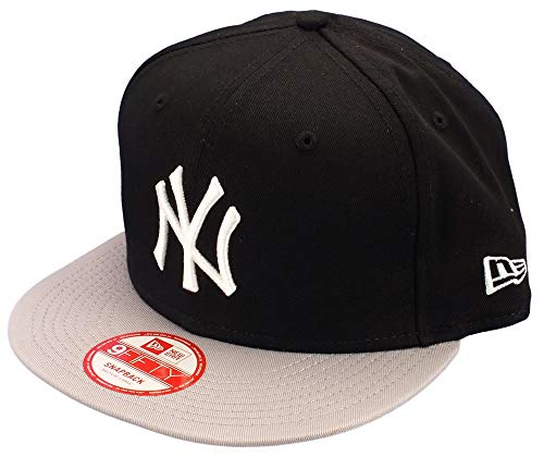 New York NY Yankees MLB Noir / Grey Pop Tonal New Era 9Fifty Snapback Reglable Casquette de Baseball Taille S/M