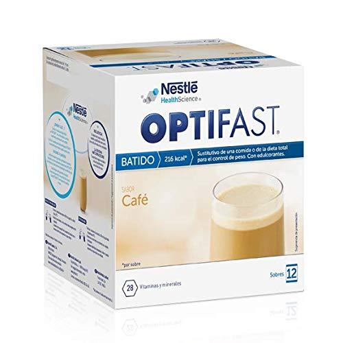 Optifast Batido Café - Envase de 12 sobres de 53g cada uno, sustitutivos de la comida para control de peso