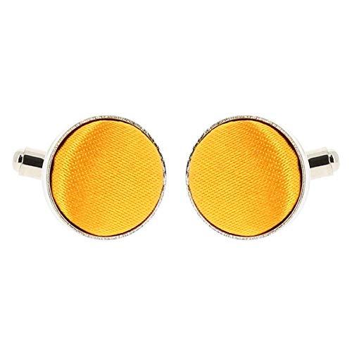 Boutons de Manchette Jaune orange pour Homme - Accessoire Poignet Chemise et Veste de Costume - Mariage, Cérémonie