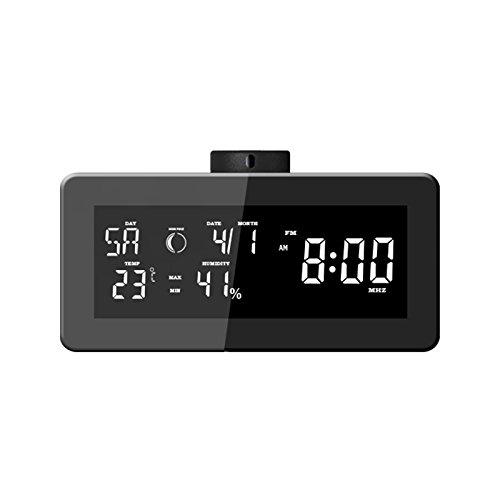 LKM Security lkm-rsb01bk Barometer Radio wekker met verborgen camera, zwart
