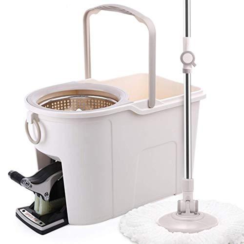 Magic Spin Floor Mop Super Spin Mop Spinning Mop Eimer Metallrotierende Reinigung für Holzfußbodenfliesen