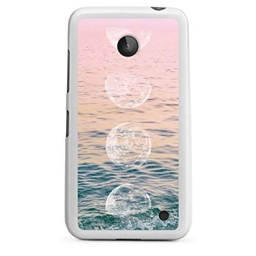 DeinDesign Silikon Hülle kompatibel mit Nokia Lumia 630 Hülle weiß Handyhülle Mond Meer Sommer
