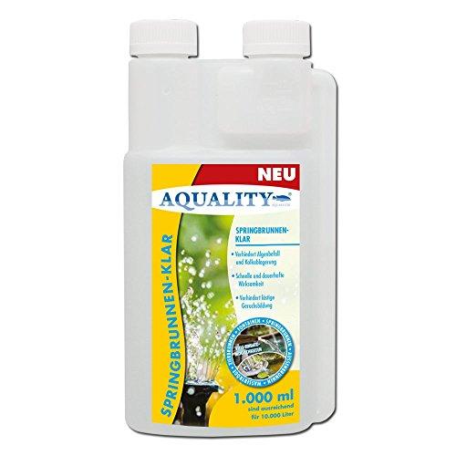 AQUALITY Springbrunnen-Klar (GRATIS Lieferung in DE - Verhindert Algenbefall und Kalkablagerung - Schnell und dauerhaft - Verhindert Geruchsbildung - Für besatzlose Wasseranlagen), Inhalt:1 Liter