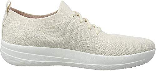 Fitflop F-Sporty Uberknit Sneakers, Scarpe Donna, Blanc (Ss20 Jet Stream 031), 37 EU