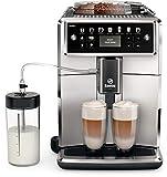Saeco Xelsis SM7581/00 - Cafetera (Independiente, Máquina espresso, 1,7 L, Granos de café, De café molido, Molinillo integrado, Negro, Plata)