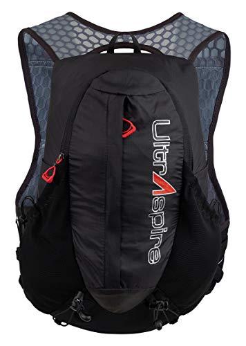 Ultraspire Legacy - Chaleco de hidratación de hasta 5 litros de Capacidad, versátil y Resistente al Sudor - UA115BK, Universal (Chest Size: 26″-48″), Negro