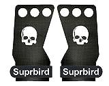 SUPRBIRD 3 Holes Calleras Crossfit, Guantes de Entrenamiento | Levantamiento de Pesas Gimnasio Entrenamiento Antideslizante Grip Pads | Apoyo Power-Lifting, Culturismo, Fitness para Hombres y Mujeres