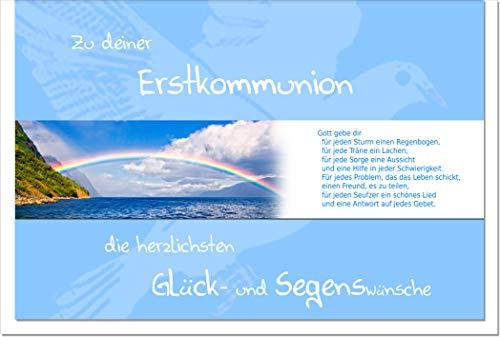 metALUm Karte zur Kommunion REGENBOGEN   1011034S