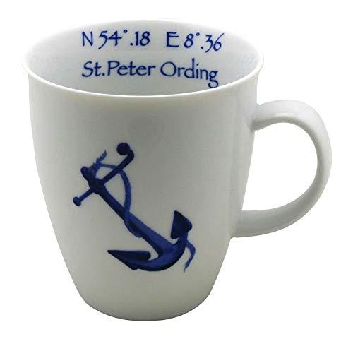 Cup & Mug Becher Nordisch Maritim Anker & Kompassrose St. Peter Ording 400ml