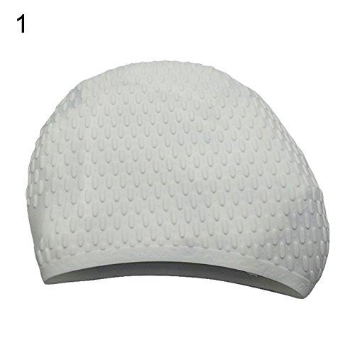 Danigrefinb, badmuts, waterdichte siliconen antislip vrouw lang haar oren beschermende zwemmuts hoed