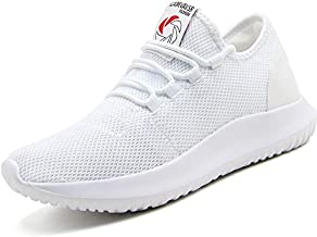 CAMVAVSR Men's Gym Shoes Fashion Slip on Lightweight Casual Workout Outdoor Walk Shoes for Men White Size 11