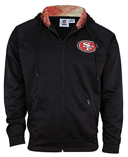 Zubaz NFL Men's San Francisco 49ers Full Zip Performance Fleece Zip Up Hoodie>