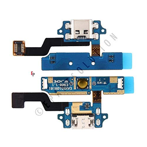 ePartSolution-LG Optimus G Pro E980 E985 F240 Charger Charging Port Flex Cable Dock Connector USB Port With Mic Microphone Flex Cable Repair Part