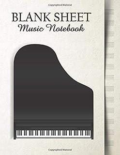 Blank Sheet Music Notebook: Music Manuscript Paper | Big Pia