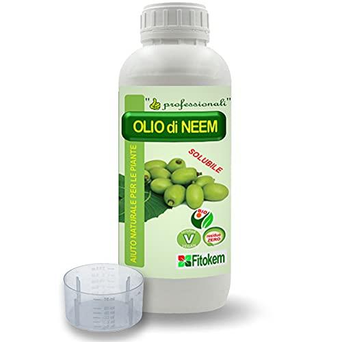 FITOKEM - Olio di NEEM - NEEM Olio 1 Lt - Aiuto per Le Piante