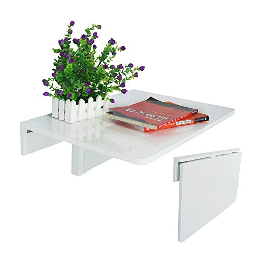 LiRen-Shop JinQi Wall-mounted Drop-leaf Table,Simple and folding,60x40cm,White