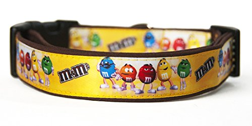 M&M`s Collar Perro Hecho A Mano Talla M Handmade Dog Collar